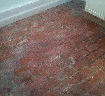 Brick Paviours Before Restoration