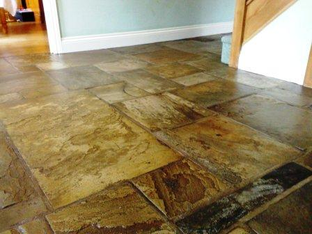 Flagstone Floor After Restoration