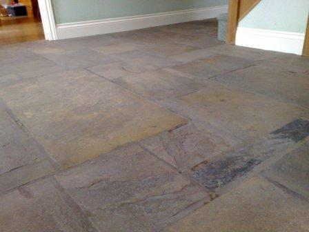 Flagstone Floor Before Restoration