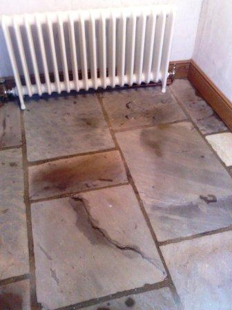 Flagstone Floor Before Restoration