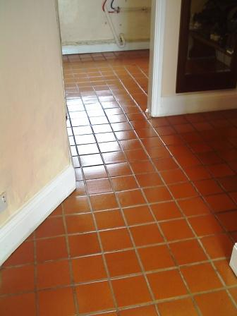 Quarry Tiles After Cleaning and Sealing
