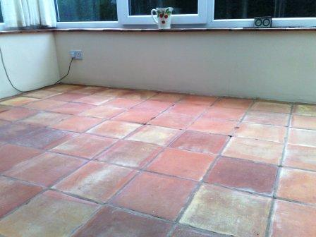 Terracotta Floor After Cleaining