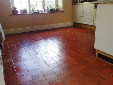 Terracotta Kitchen Floor After Restoration