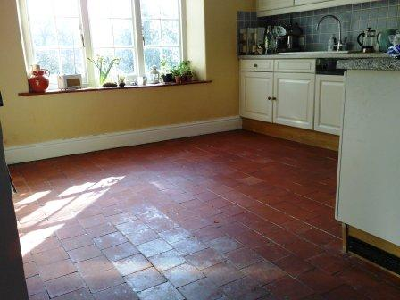 Terracotta Kitchen Floor Before Restoration