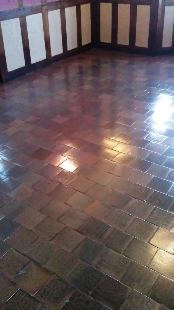Quarry Tile After Cleaning and Sealing