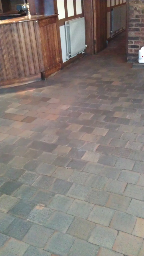 Quarry Tile Before Cleaining