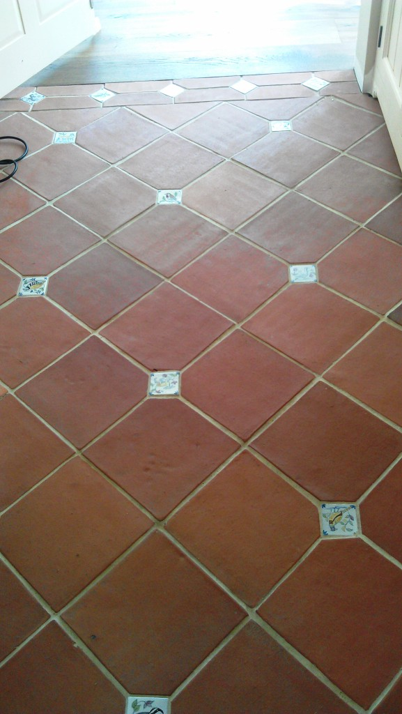 Terracotta Floor Tile Before Cleaning
