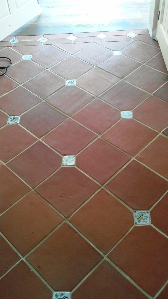 Terracotta Floor Tile Before Cleaning