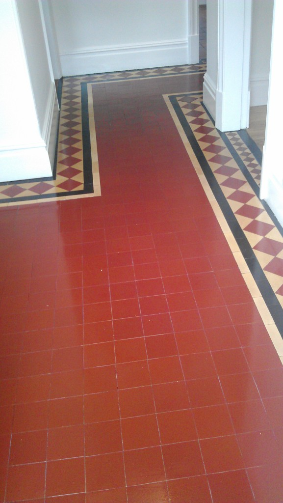 Victorian Floor After Cleaning and Sealing