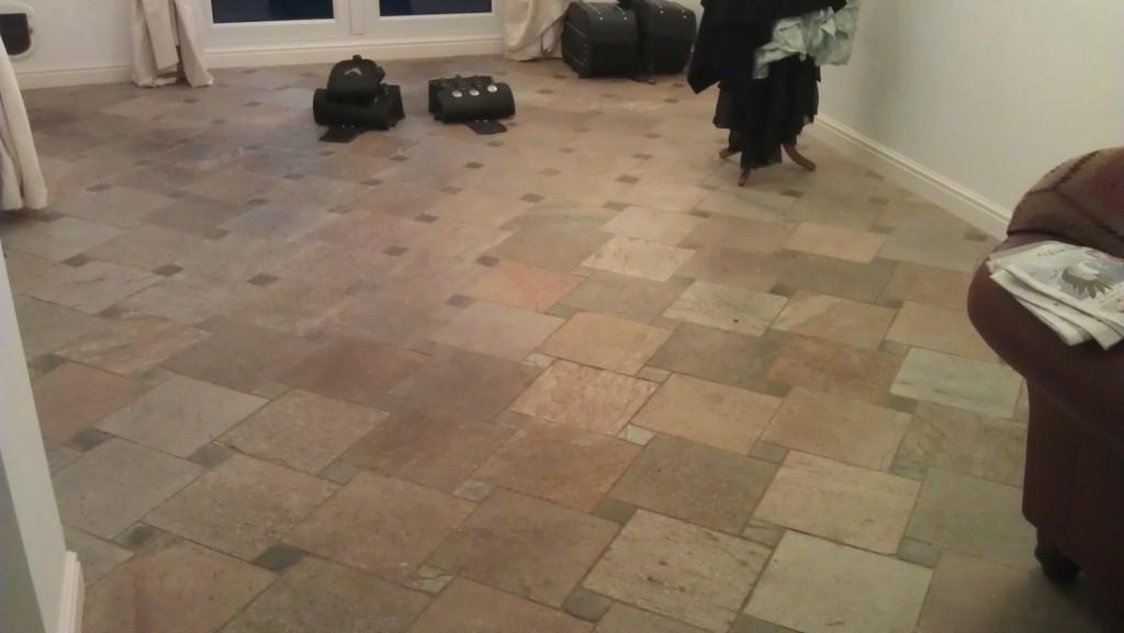 Italian Riven Slate Before Cleaning