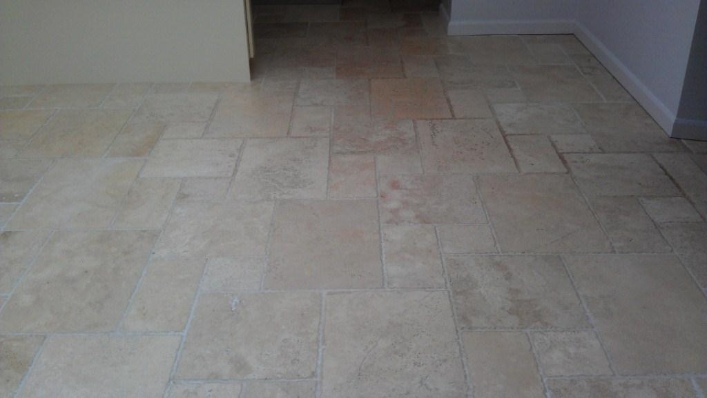 Travertine Floor Before