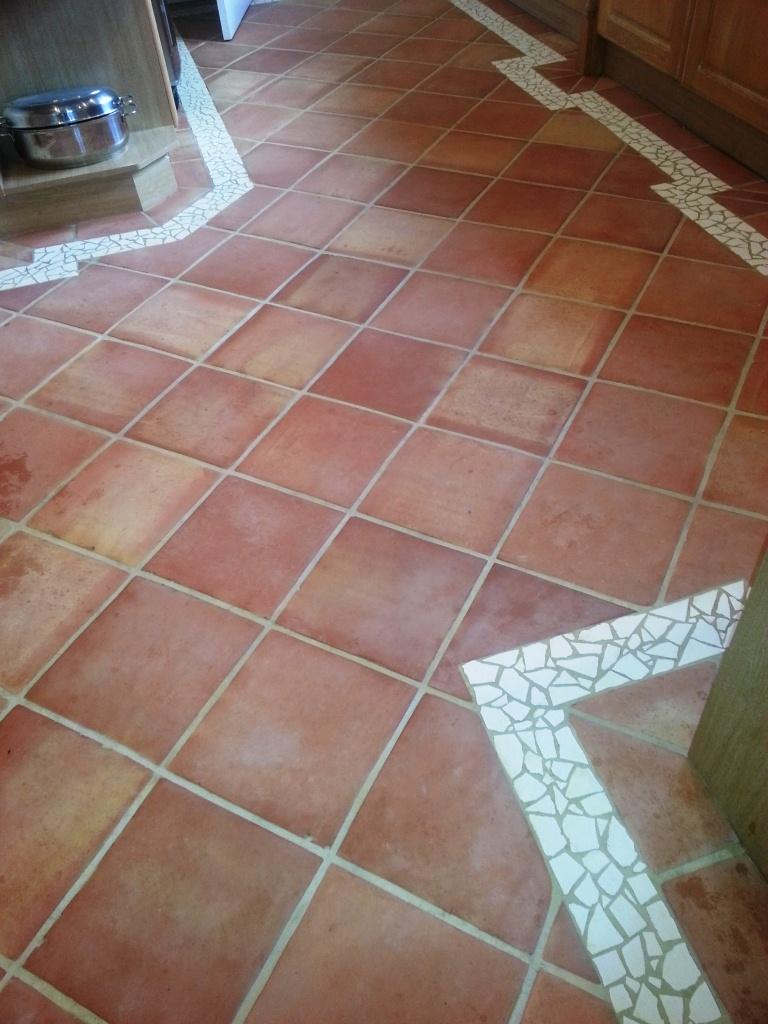 Terracotta Horncastle Before Cleaning