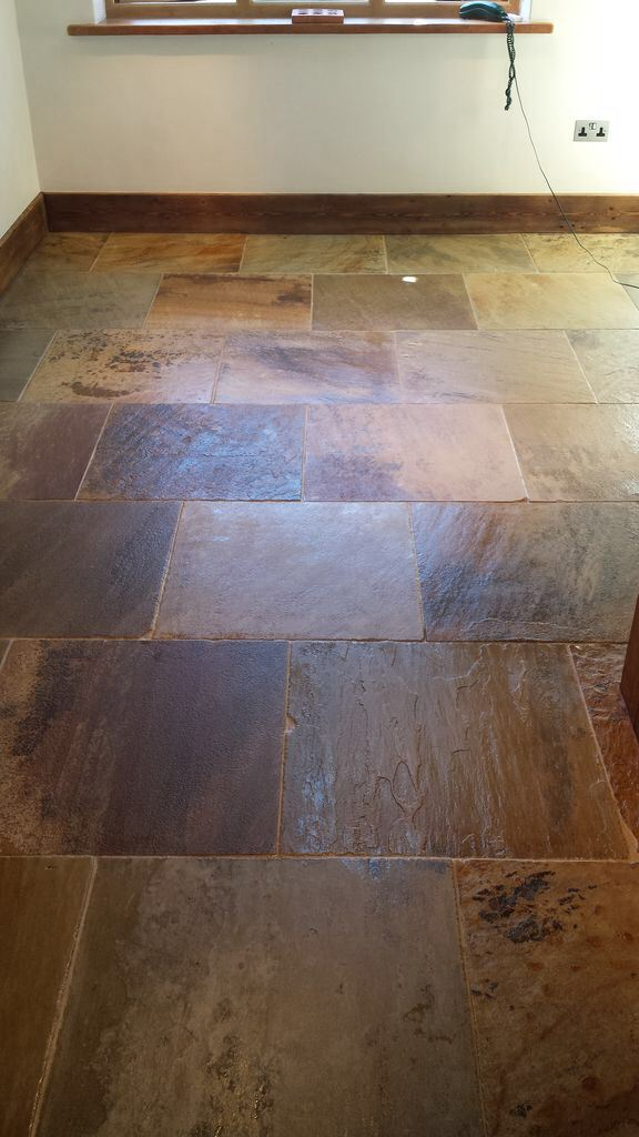 Natural Stone Floor in Boston Before