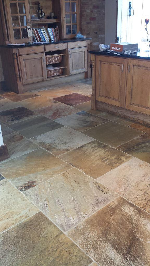 Natural Stone Floor in Boston Resealed