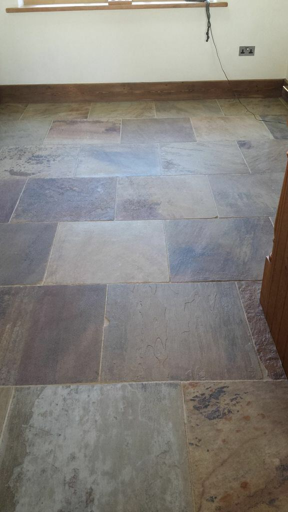 Natural Stone Floor in Boston Stripped