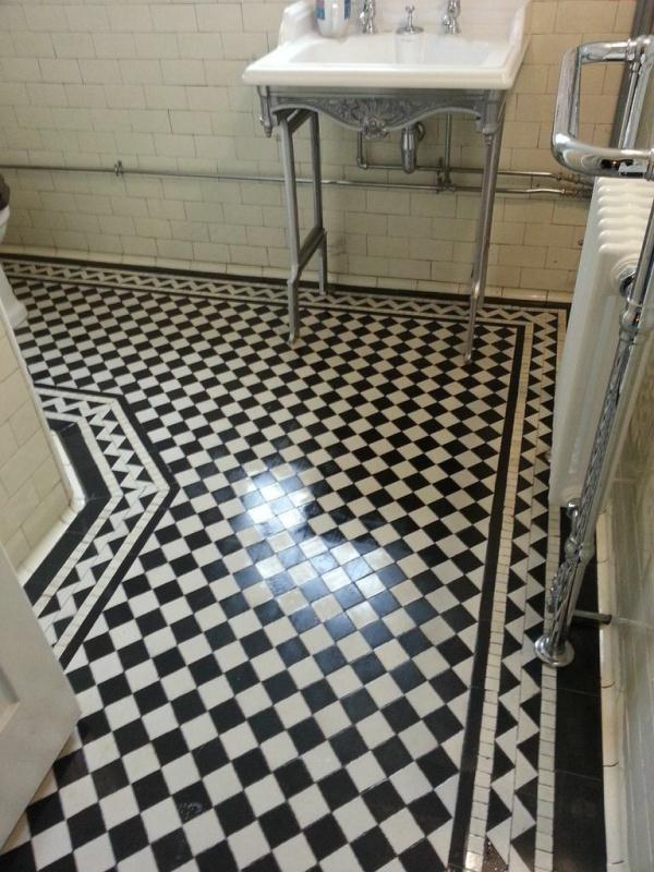 Victorian tiled floor near Horncastle after Cleaning1