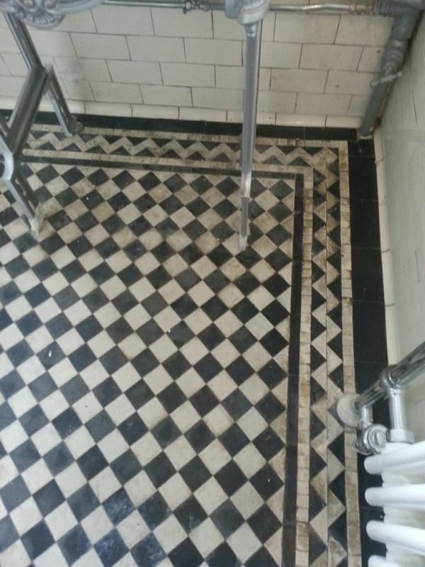 Victorian tiled floor near Horncastle before Cleaning3
