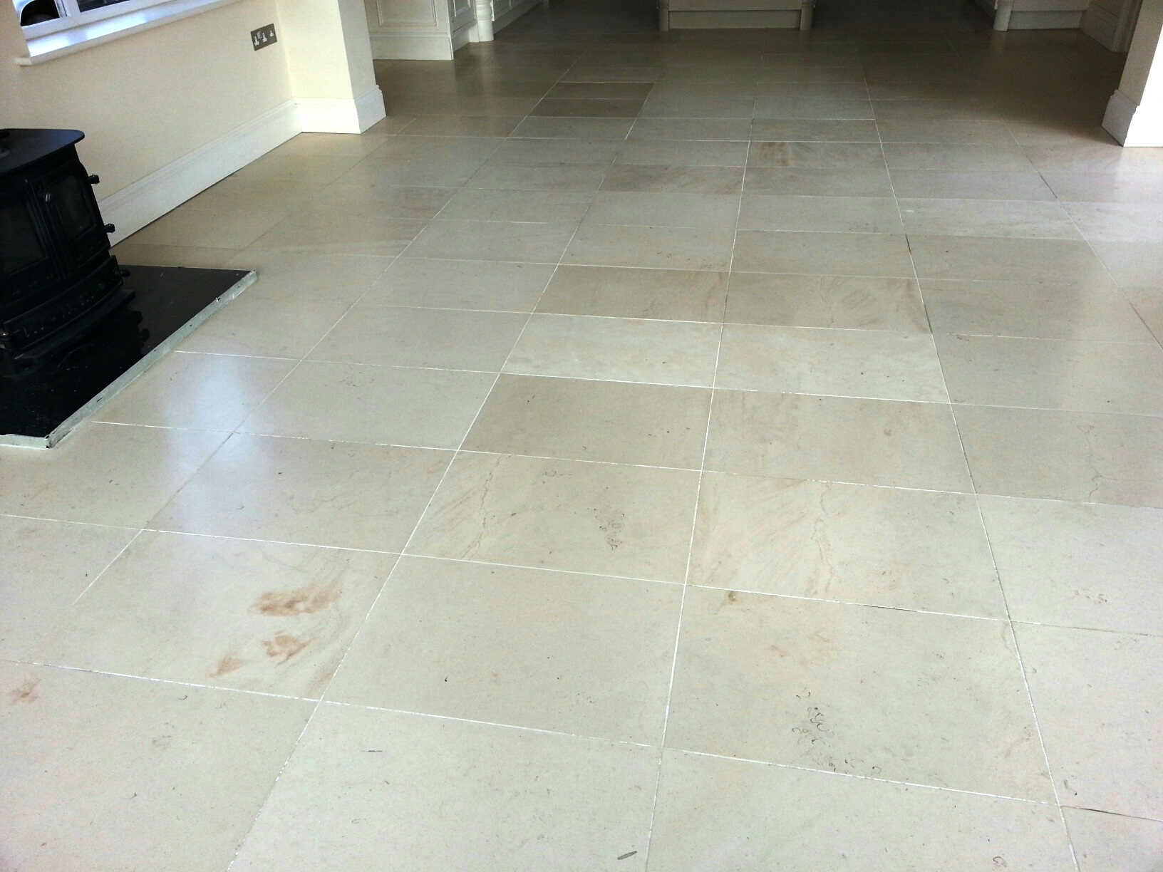 Limestone Tiles in Louth After Sealing