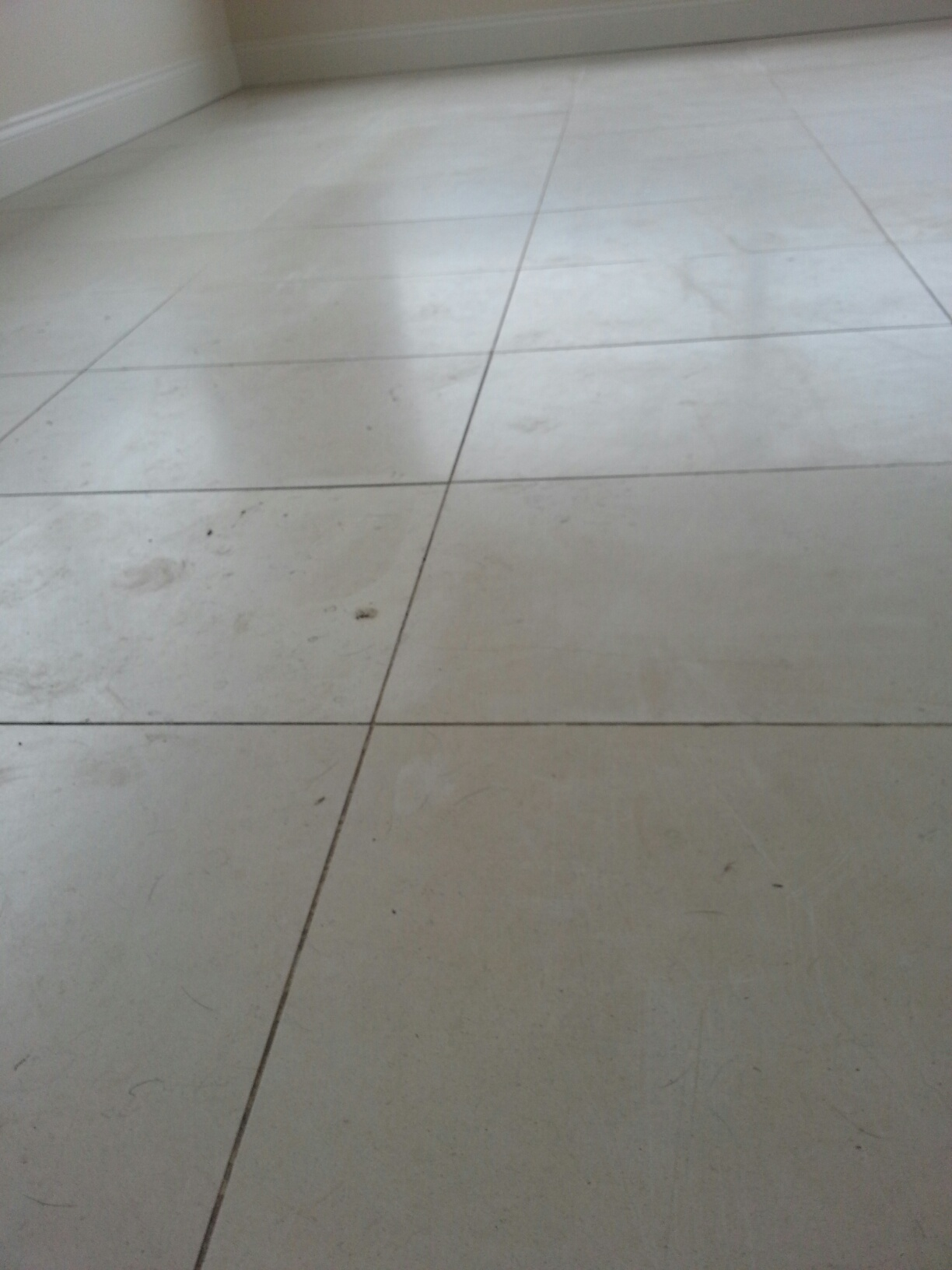 Limestone Tiles in Louth Before Cleaning