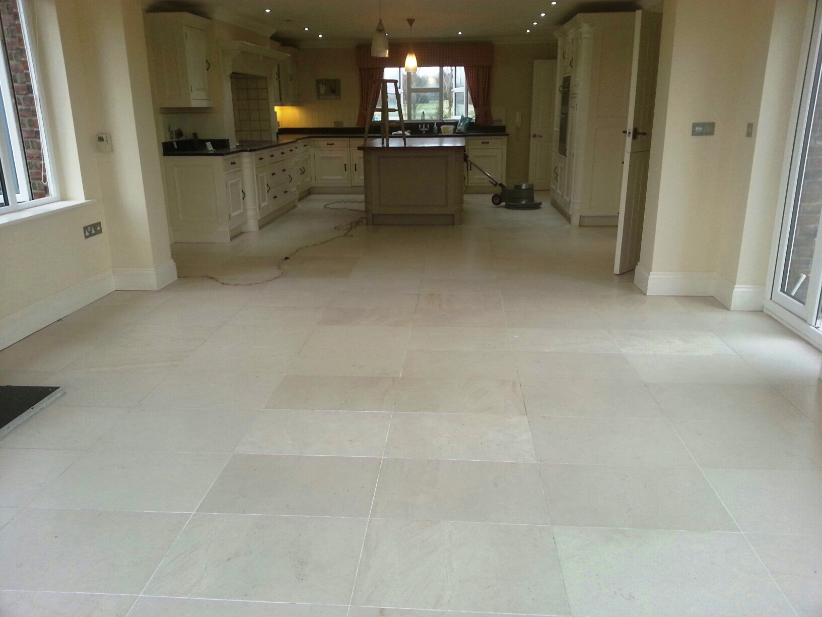 limestone bathroom floor and limestone floor tiles restored in louth 13496