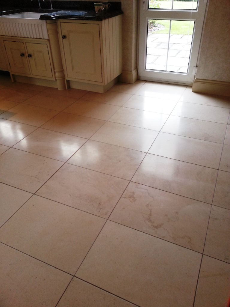 Limestone Tile After Burnishing Gainsborough
