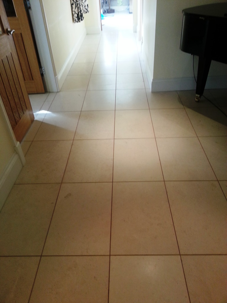 Limestone Tile Before Cleaning Gainsborough