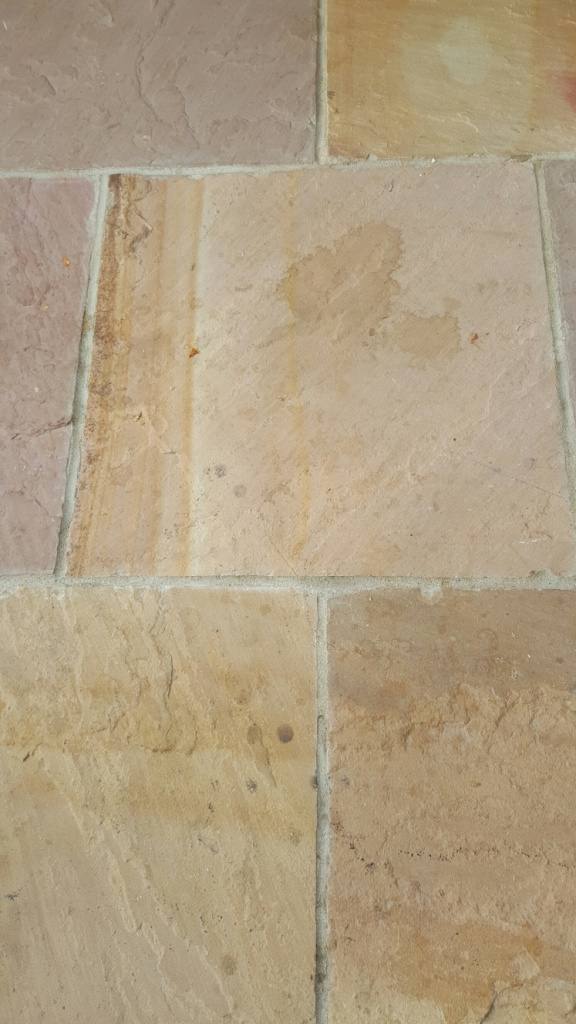 Riven Flagstone Floor Before Cleaning Boston
