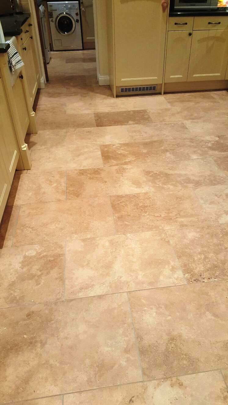 Travertine Floor After Deep Cleaning