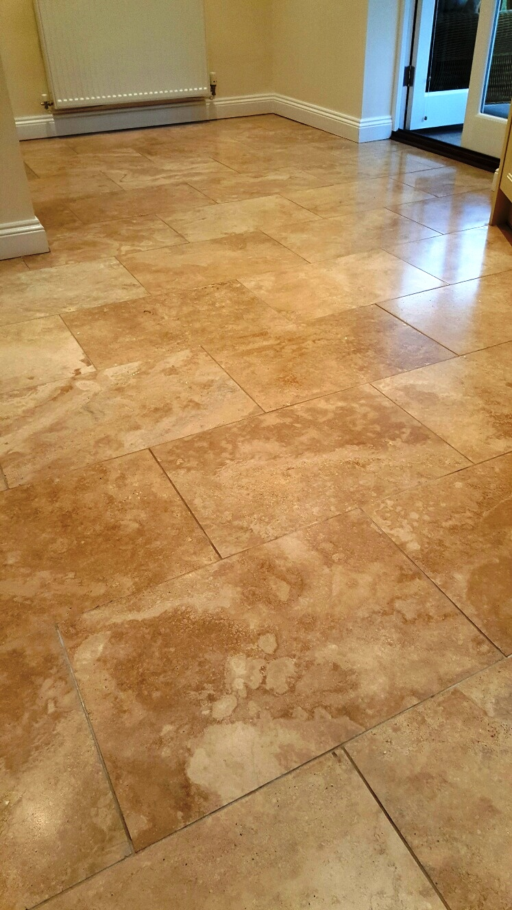 Travertine Floor After Refurbishment Sleaford