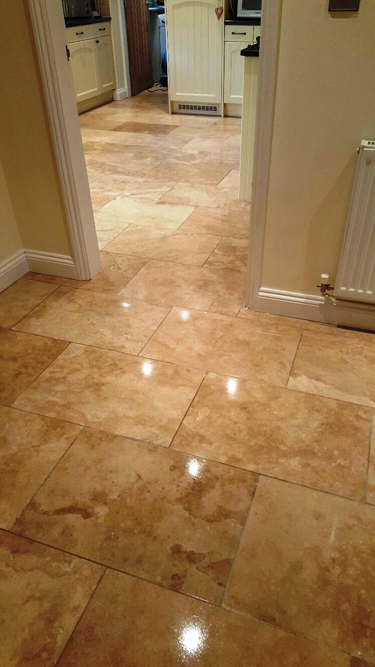 Travertine Floor After Refurbishment Sleaford