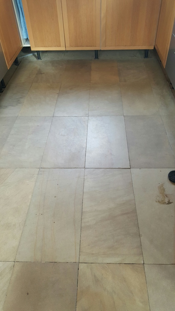 Sandstone Floor Before Cleaning Sleaford