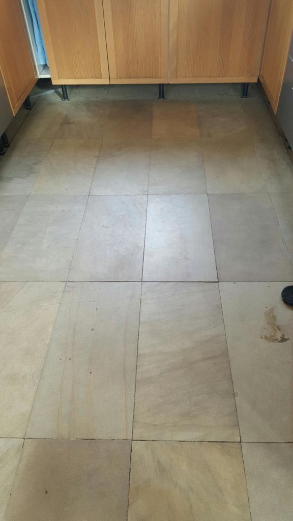 Sandstone Floor Before Cleaning Sleaford