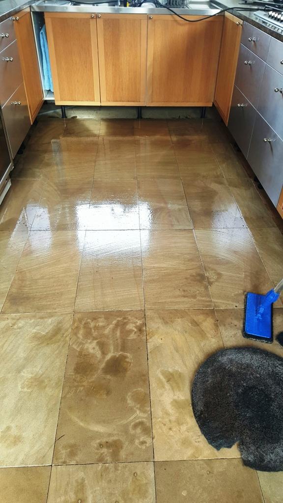 Sandstone Floor During Cleaning Sleaford