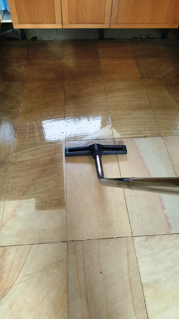 Sandstone Floor During Cleaning Sleaford