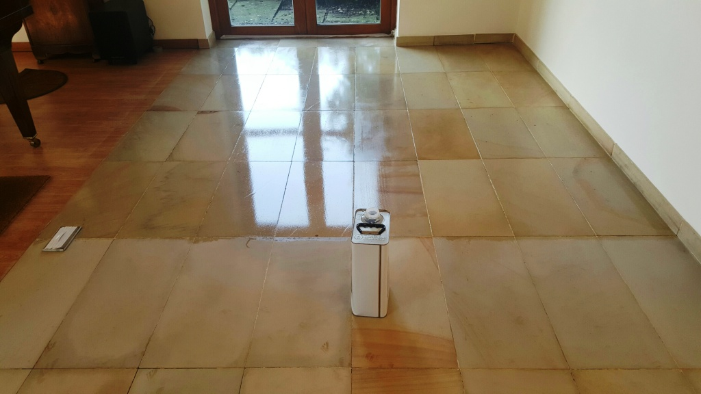 Sealing a tile floor