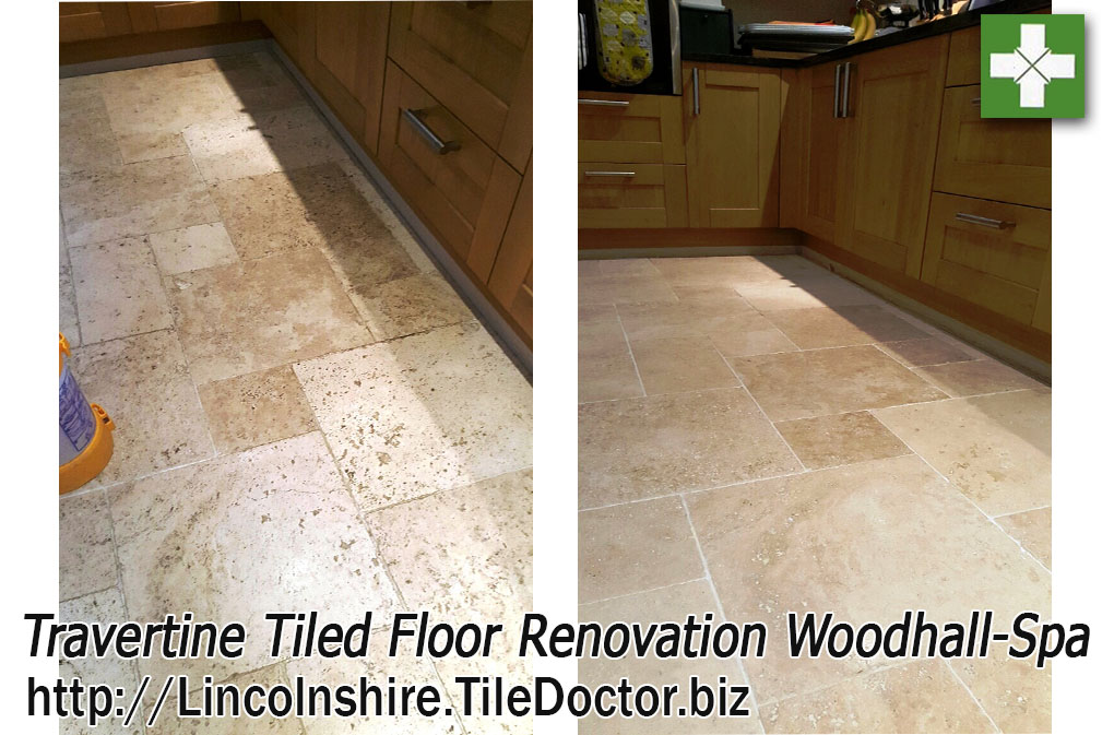 Renovating Dull and Dirty Travertine Tiles in Woodhall-Spa