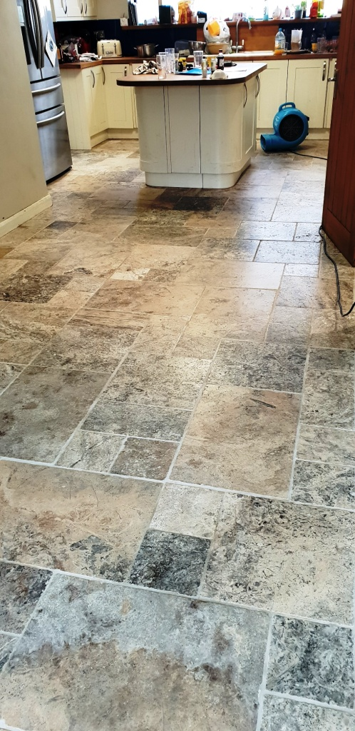 Travertine Floor Coningsby Floor Drying After Cleaning