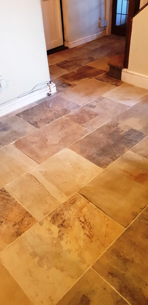 Natural Stone Floor After Cleaning Spilsby