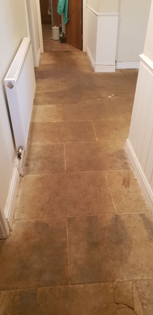 Natural Stone Floor Before Cleaning Spilsby