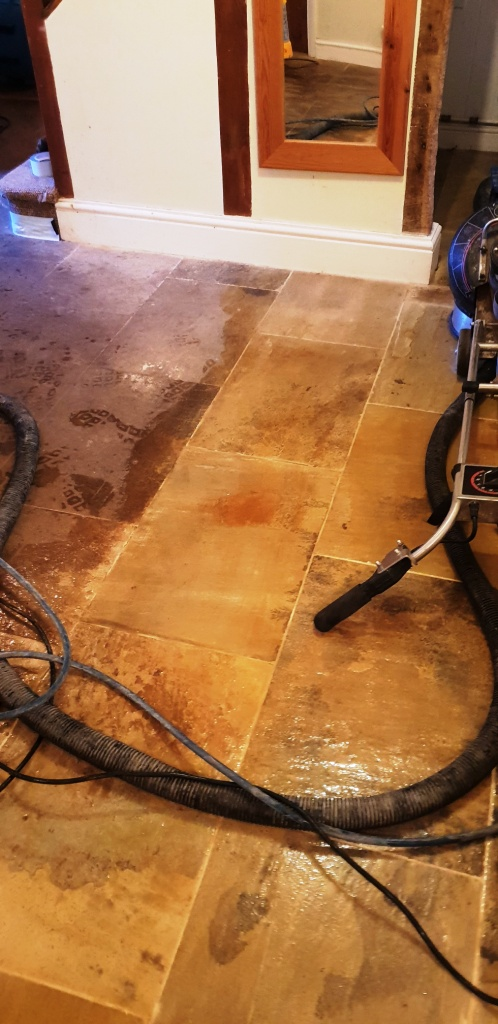 Natural Stone Floor During Cleaning Spilsby