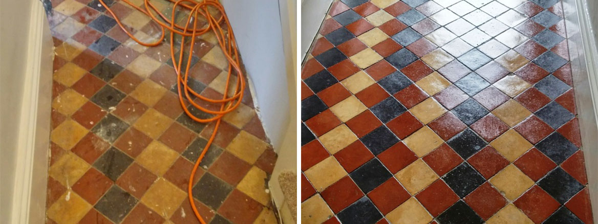 Victorian and Quarry Tiled Floors Cleaned and Sealed in Louth