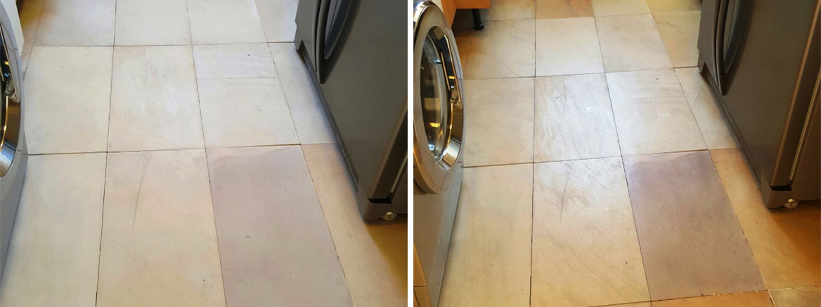 Dull and Dirty Sandstone Tiles Revitalised in Sleaford