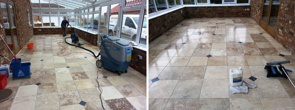 Sealing Marble Tiles Woodhall Before and After