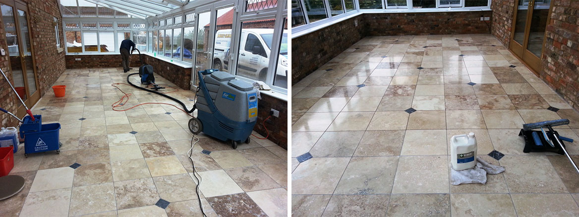 Removing Scratches from Marble floor tiles in Woodhall SPA