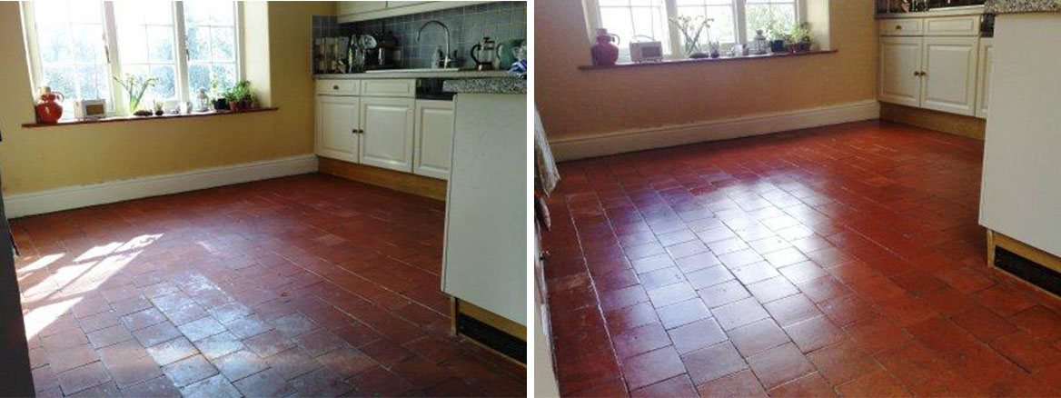 Terracotta Kitchen Floor Before and After