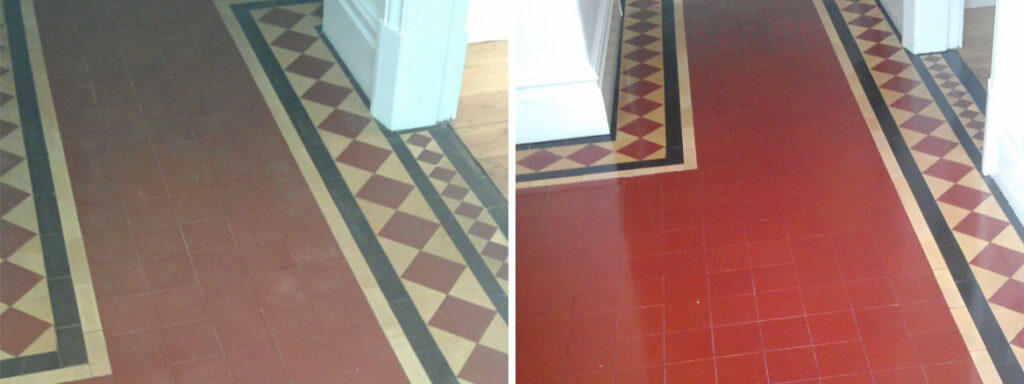 Victorian Floor Before and After Cleaning and Sealing