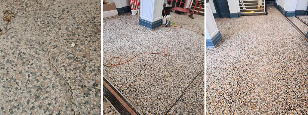 Large Mosaic Tiled Floor Restored at Lincoln College